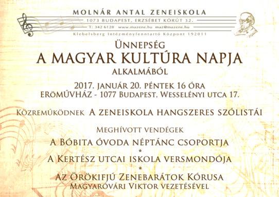 Magyar Kultúra napi koncert youtube-on